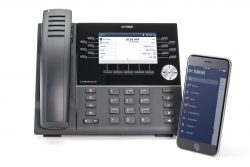 Mitel 6930 with iPhone (Front) (English Display)